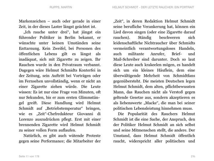 Seite eines Kindle-Unlimited-E-Books: Neben der Schriftgröße lässt sich zum Beispiel auch die Schriftart einstellen, ein praktisches Feature