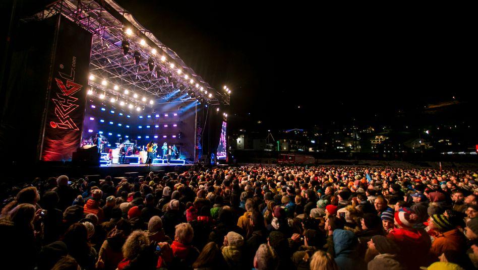 Immer voll in Ischgl, hier bei einem Konzert 2019: Von hier aus verbreitete sich das Coronavirus in ganz Europa