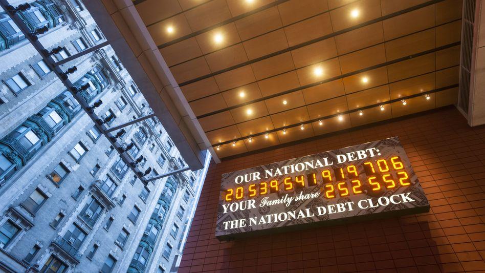 Schuldenuhr in New York