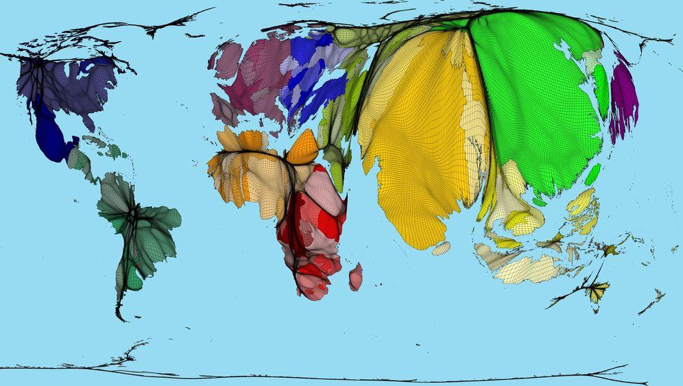 Worldmapper: Hier lebt die Welt