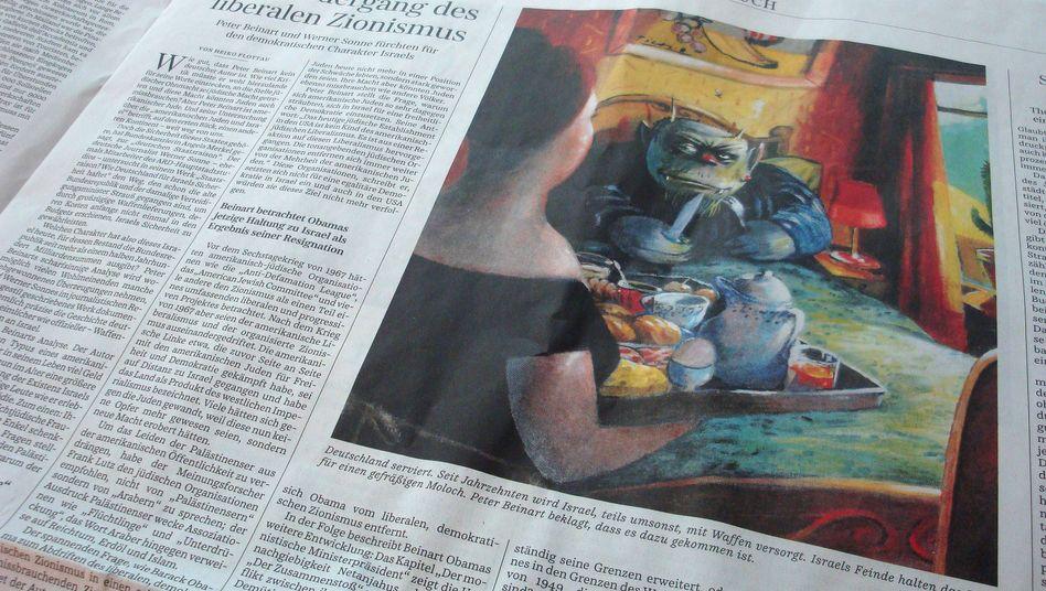 """Karikatur von Ernst Kahl in der """"SZ"""" vom 2. Juli: Monster mit gezücktem Messer"""