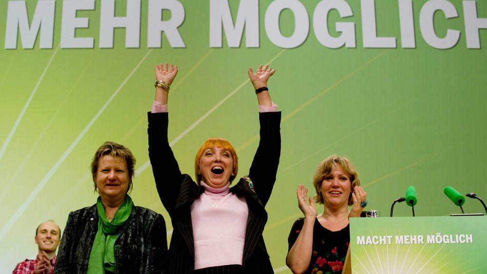Grüne NRW-Spitzenfrauen mit Parteichefin Roth in der Mitte: Wo bleiben die Männer?