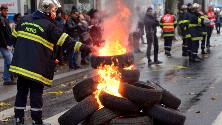 Streikwelle in Frankreich: Selbst die Lamas demonstrieren