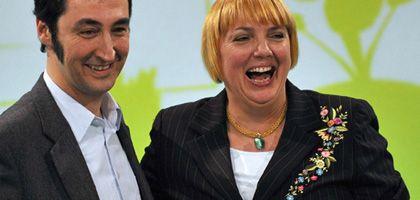 Der Neue und die Erfahrene: Cem Özdemir und Claudia Roth wurden auf dem Parteitag in Erfurt gewählt