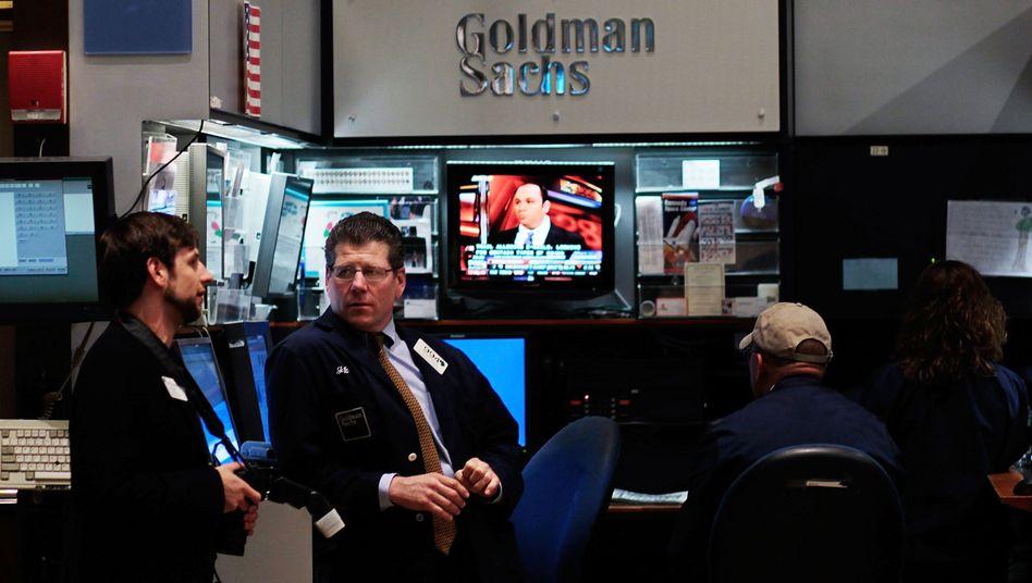Händler in der Goldman-Kabine an der New Yorker Börse: Hoher Verlust im September