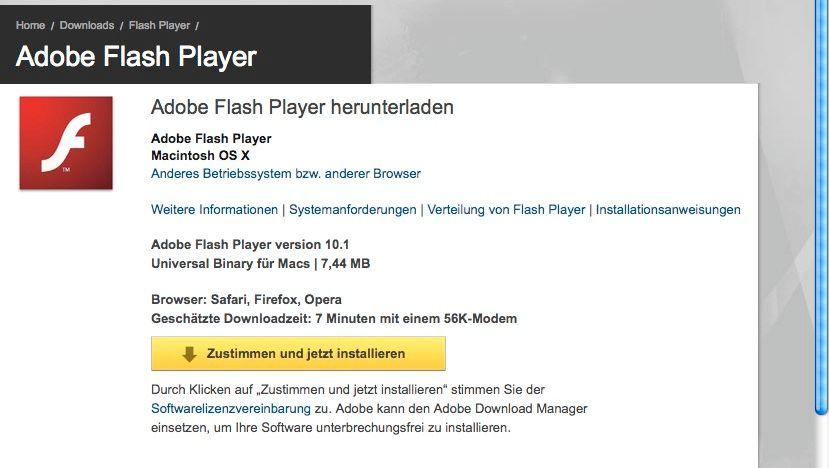 »Geschätzte Downloadzeit: 7 Minuten mit einem 56K-Modem«: Internet in der Blütephase des Flash Players