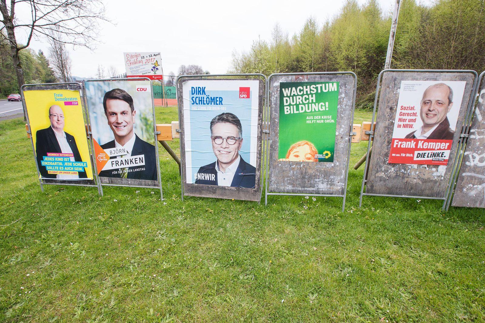 NRW Wahlplakate