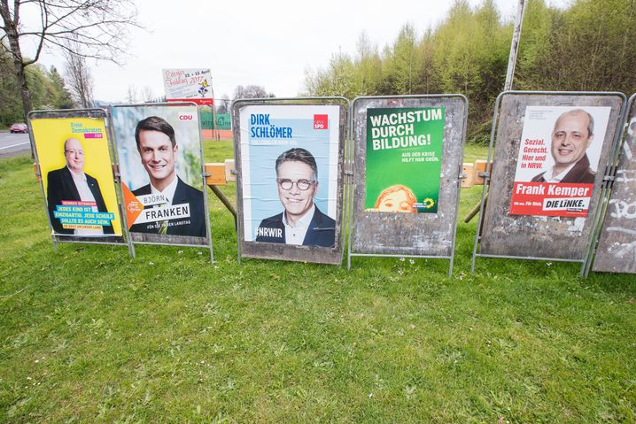 Kandidatenplakate im NRW-Wahlkampf