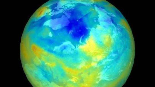 Ozonloch über der Arktis im Winter 1999/2000 (Archiv)