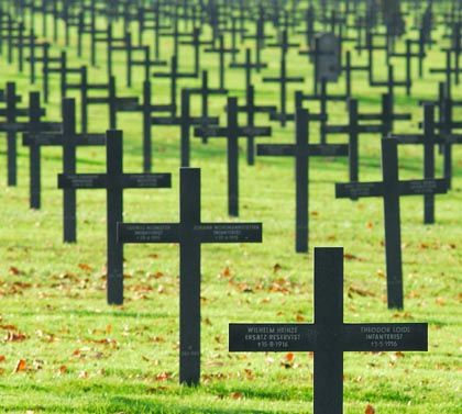 German military cemetery in France.