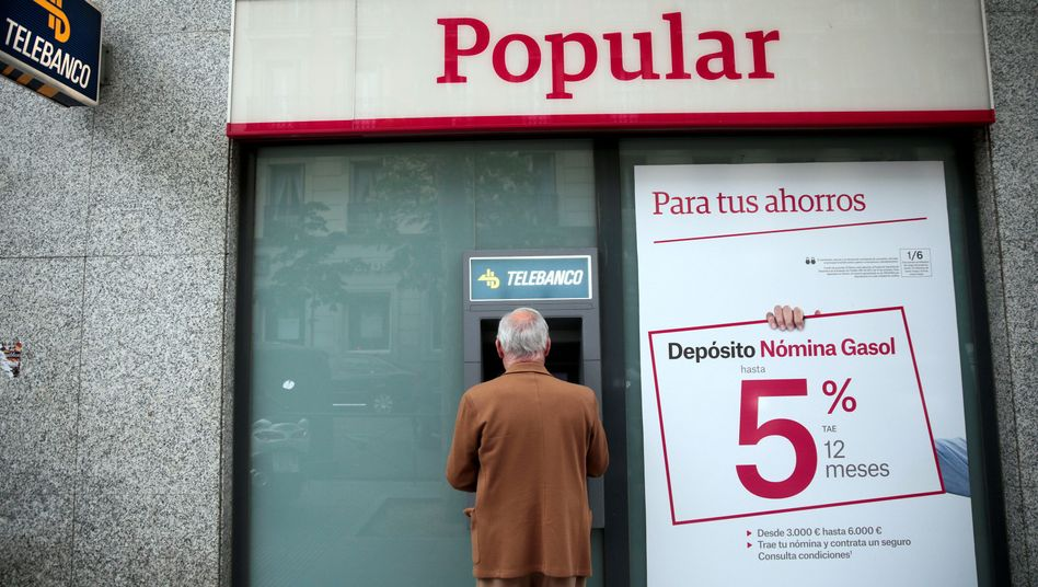 Filiale der Banco Popular in Madrid