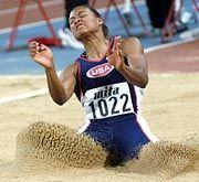 Im Weitsprung und auf den Sprintdistanzen herausragend: Marion Jones