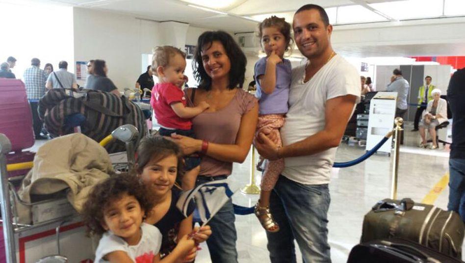 Tomy Seroussi mit seiner Familie: Ausgewandert nach Israel