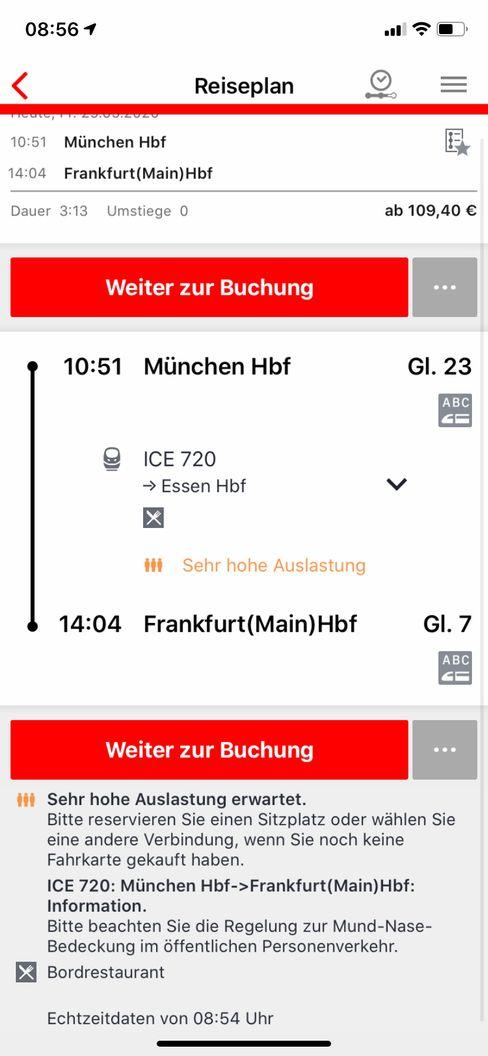 Abstands-App der Deutschen Bahn