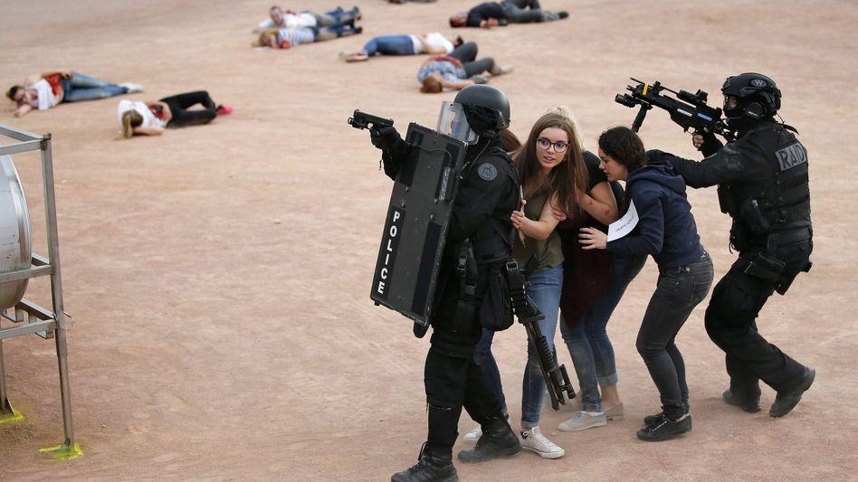 Anti-Terror-Übungen für die EM in Lyon