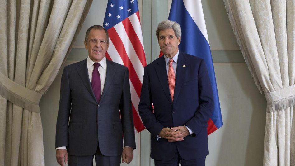 Außenminister Lawrow und Kerry: Kein gemeinsamer Kampf gegen den IS