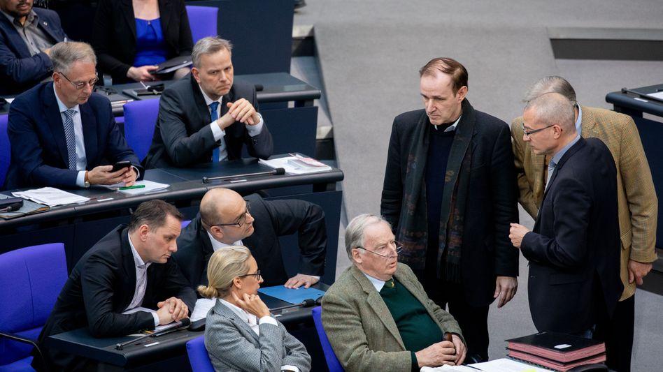 AfD-Fraktion im Bundestag: Sowohl mediale Aufmerksamkeit heischendes als auch ablenkendes Beiwerk