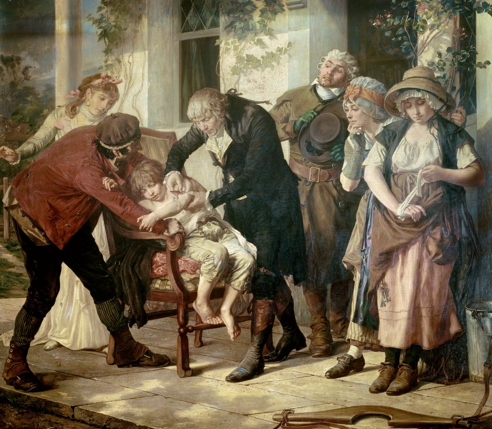 The first vaccination of Edward Jenner.