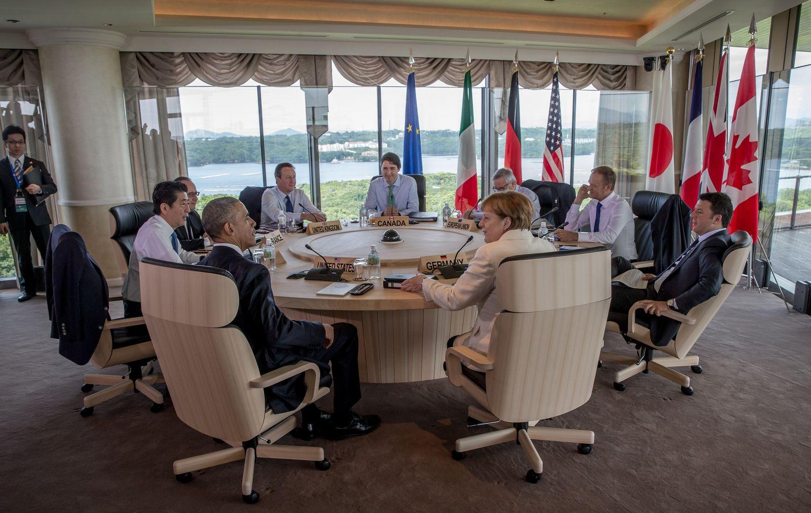 Abschluss Gipfeltreffen der Staats- und Regierungschefs der G7-St