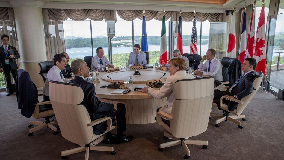 G7-Teilnehmer in Japan
