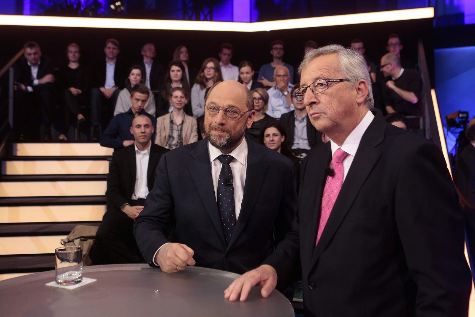 TV-Duell Juncker Schulz