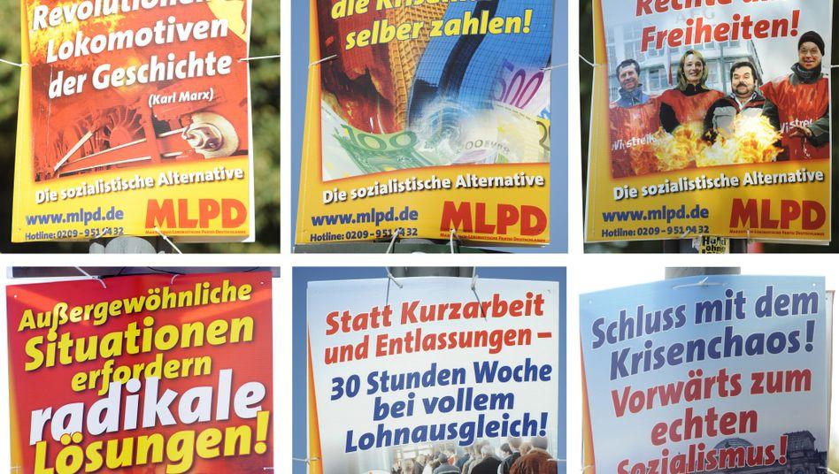 """Wahlplakate der MLPD: """"Deutlich überrepräsentiert"""""""
