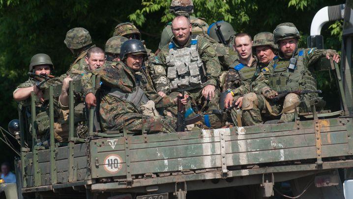 Ukraine: Kämpfe um die Stadt Marinka