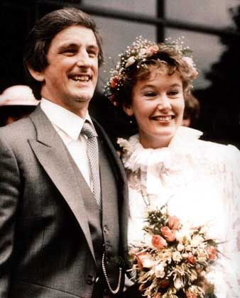 The couple's happy wedding day in 1983.