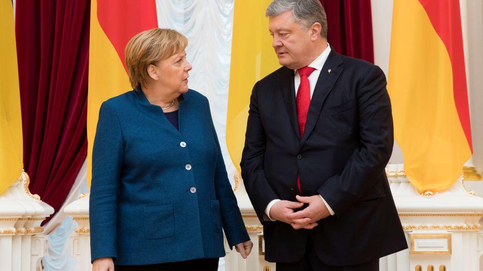 Kanzlerin Merkel bei Präsident Poroschenko in Kiew (Archivbild vom November 2018)