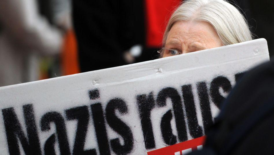 Demonstration gegen Nazis (Archivbild)