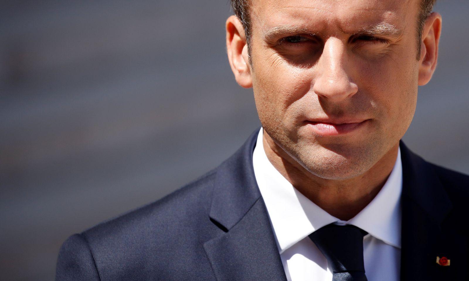 Macron/ Entschlossen