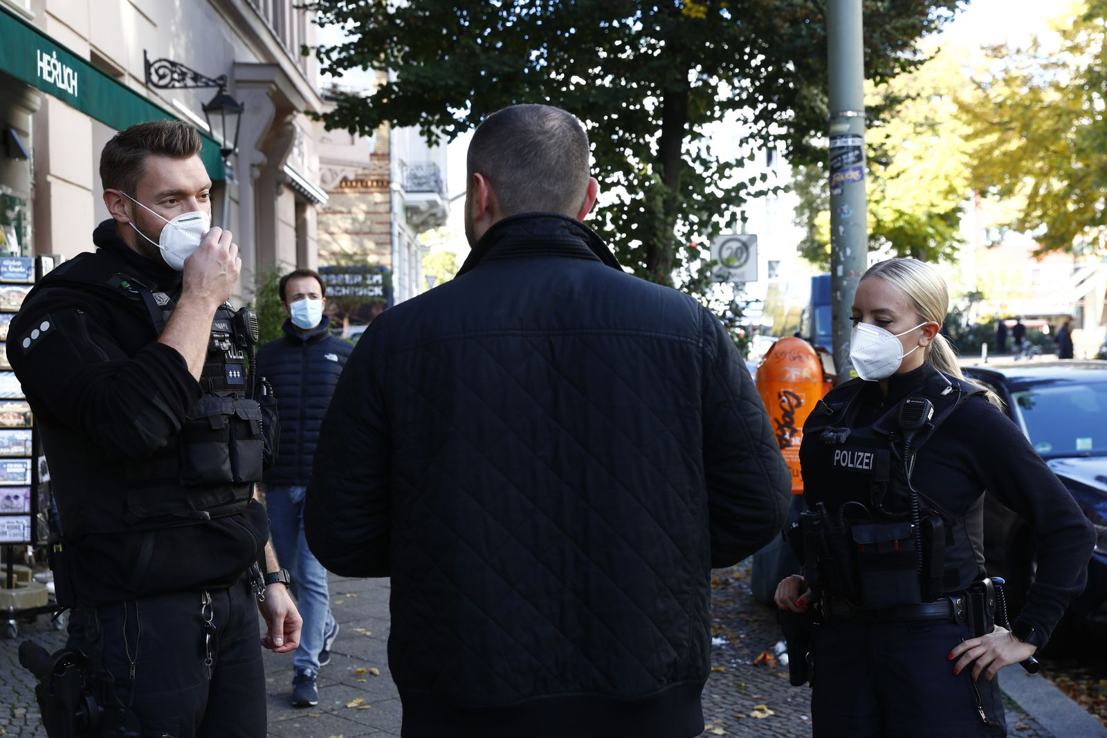 Berlin Mandates Face Masks Outside In Commercial Areas