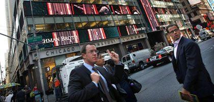 Lehman-Zentrale in New York: Aufregung in der Finanzwelt