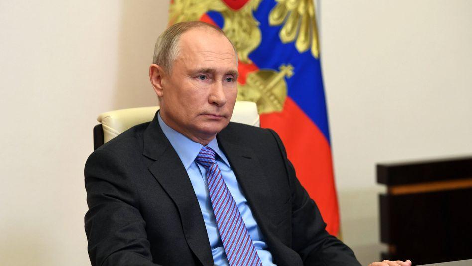 Wladimir Putin hat lange gewartet, bis er Biden gratulierte