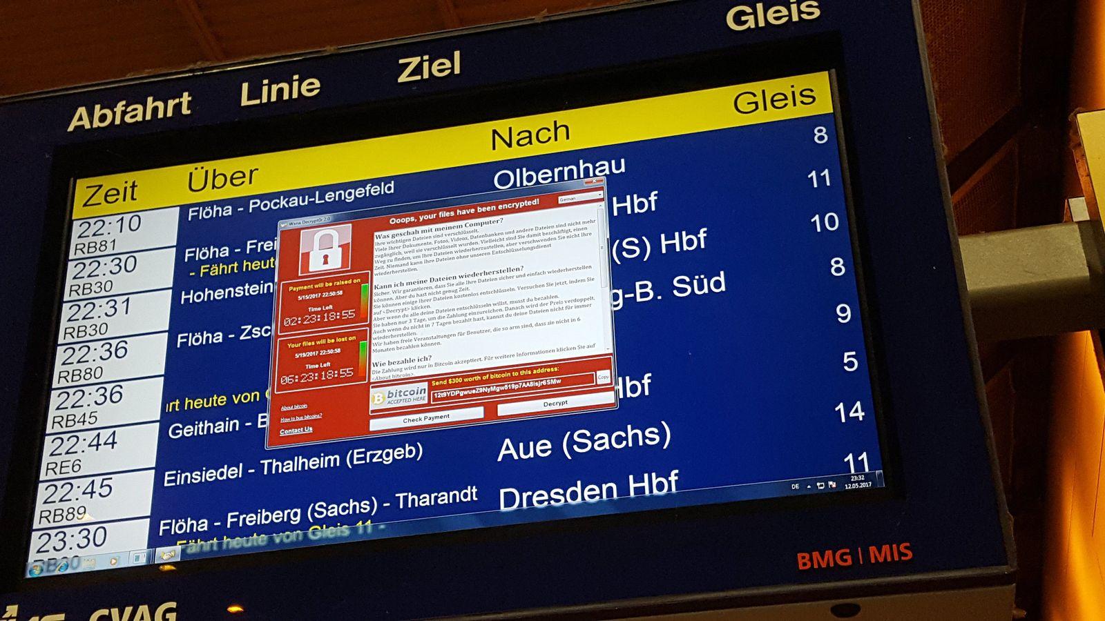 Weltweite Cyber-Attacke/ Hauptbahnhof Chemnitz