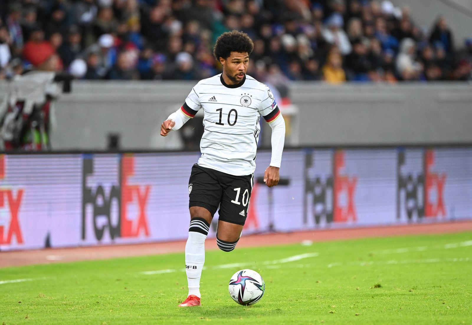 Fussball, Herren, Saison 2020/21, WM-Qualifikation (Gruppe J, 6. Spieltag) in Reykjavik, Island - Deutschland, Serge Gna