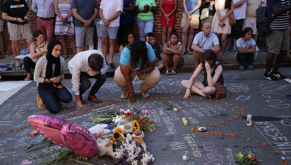 Trauernde in Charlottesville