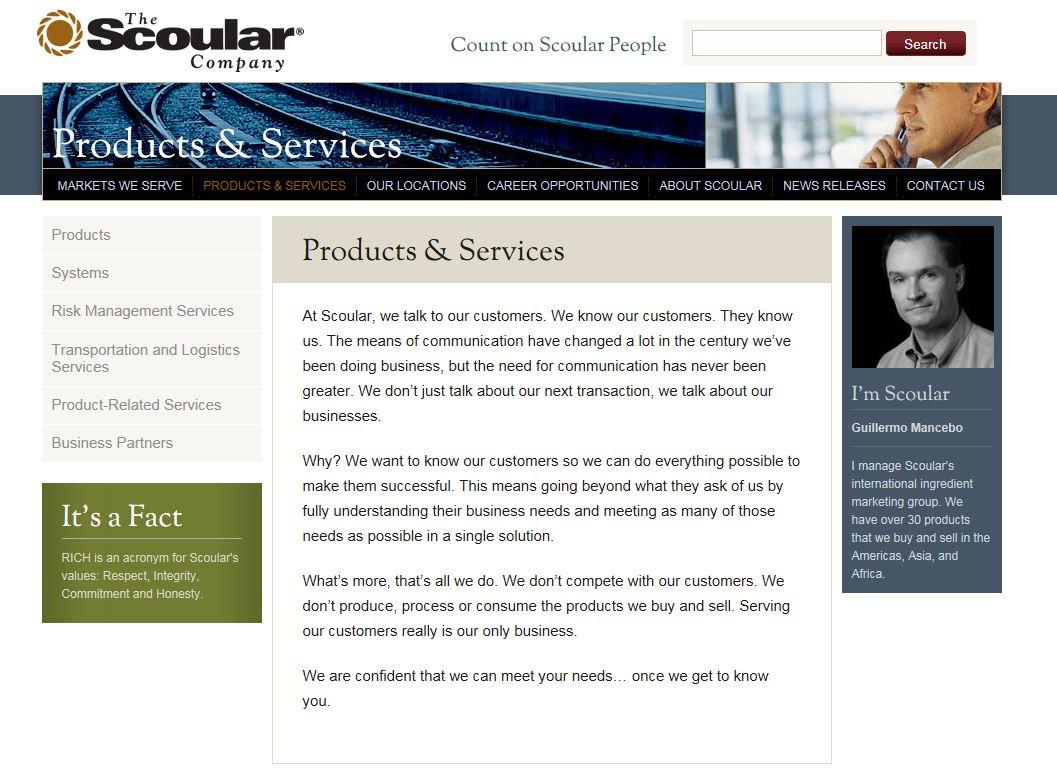 NUR ALS ZITAT Screenshot Scoular.com