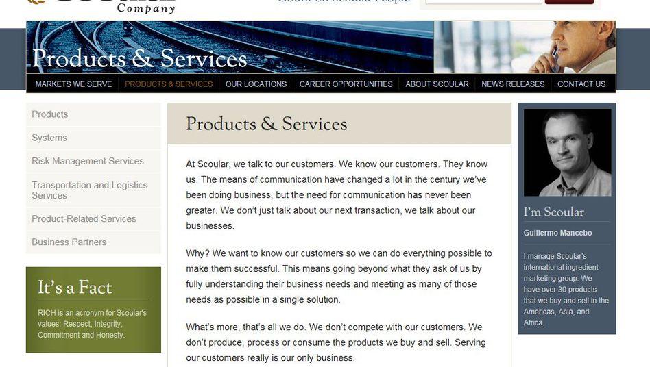 """Website von Scoular Co.: """"Ich will, dass du dich um etwas kümmerst"""""""