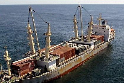 The An Yue Jiang is looking for a port to unload its cargo of Chinese weapons bound for Zimbabwe.