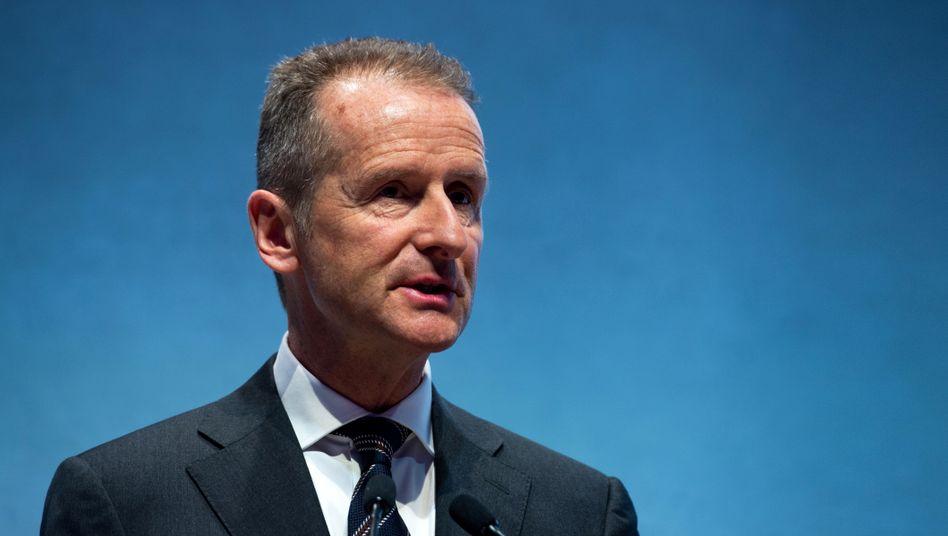 Volkswagen-Chef Herbert Diess: Der Spitzenreiter unter den Topverdienern bekam 9,9 Millionen Euro