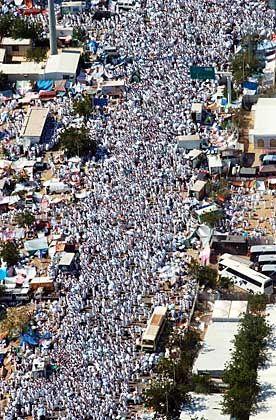Pilger nahe Arafat: Kaum zu kontrollierende Menschenmassen
