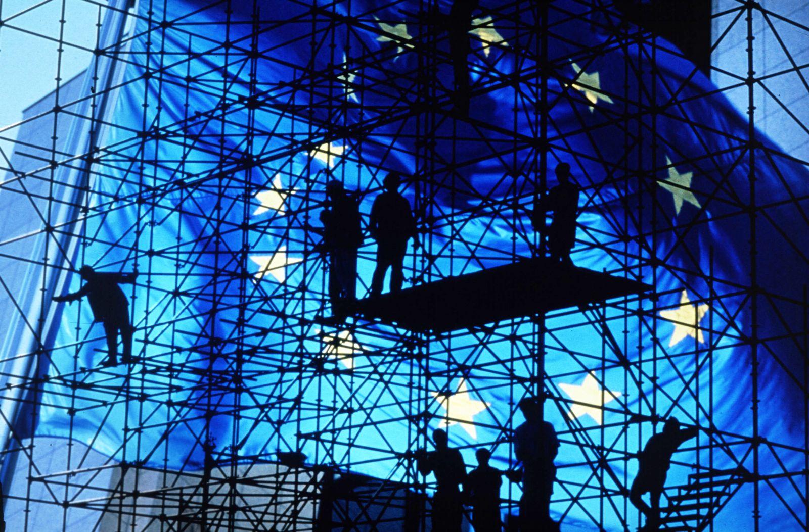 EINMALIGE VERWENDUNG EU Flagge/ Europäische Union