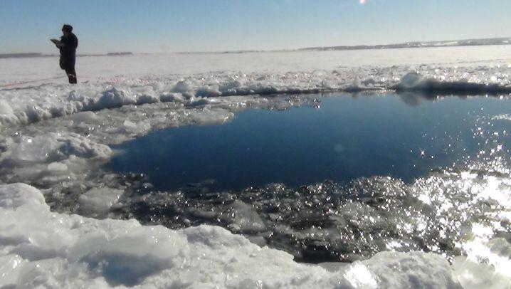 Meteoritenhagel über Russland: Loch im See