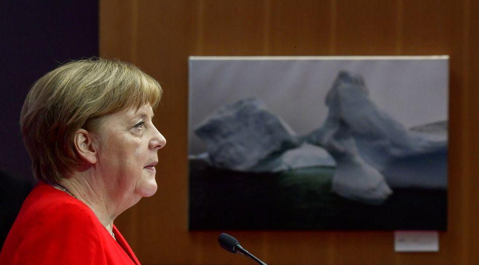 Kanzlerin Angela Merkel beim Petersberger Klimadialog