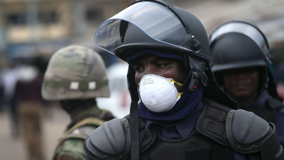 """Soldat in Monrovia: """"Sie haben nicht auf friedliche Bürger geschossen"""""""