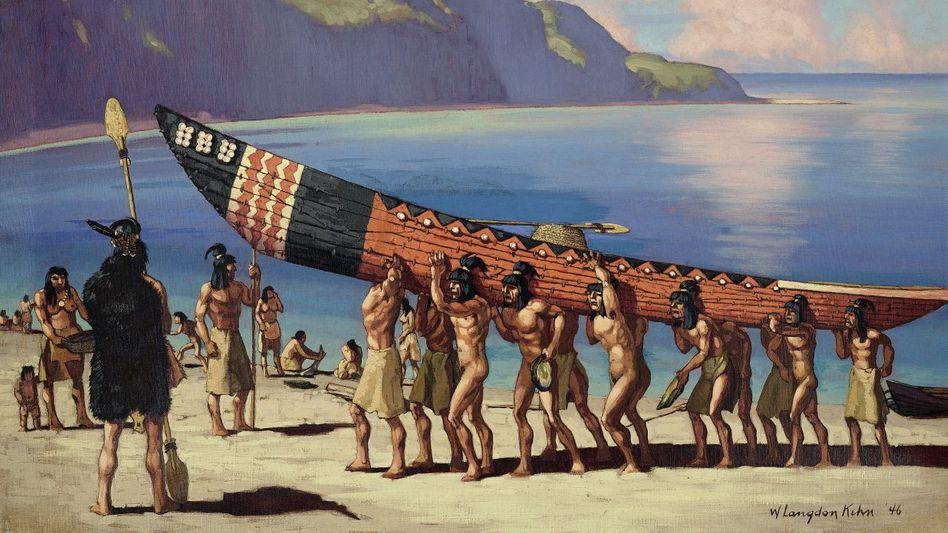 Chumash-Indianer (Gemälde von William Langdon Kihn, 1946)