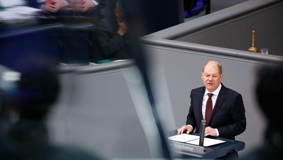 """Olaf Scholz: """"Größte wirtschaftliche Herausforderung in der Geschichte"""""""
