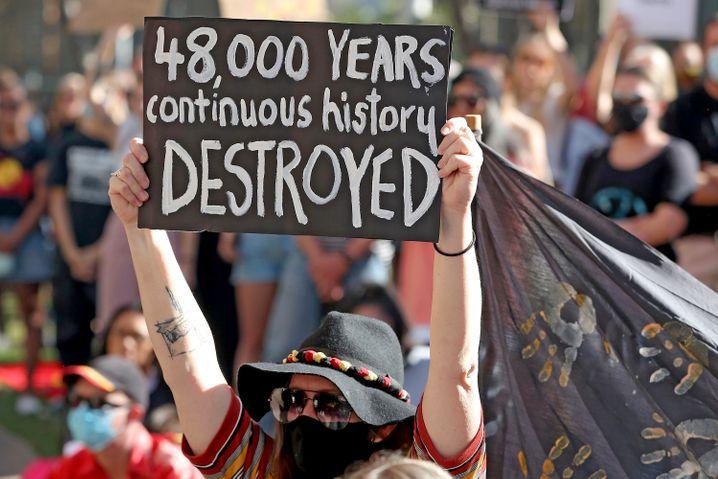 Demonstranten in Perth (im Juni 2020)