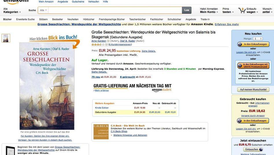 """""""Große Seeschlachten"""" bei Amazon: Mit technischen Details von Wikipedia"""